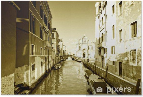 Venedig Plakat - Europæiske Byer