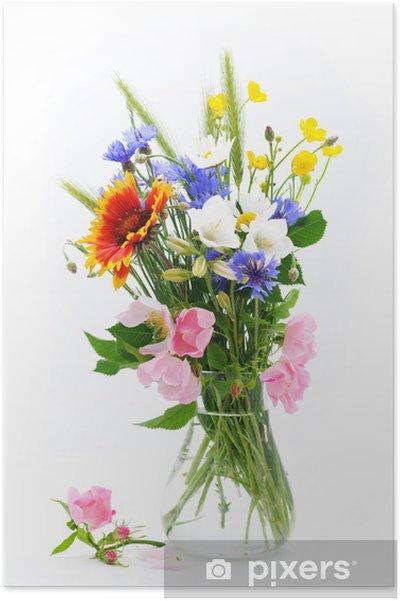 Vellidte Vilde blomster buket Plakat • Pixers® - Vi lever for forandringer QE-11