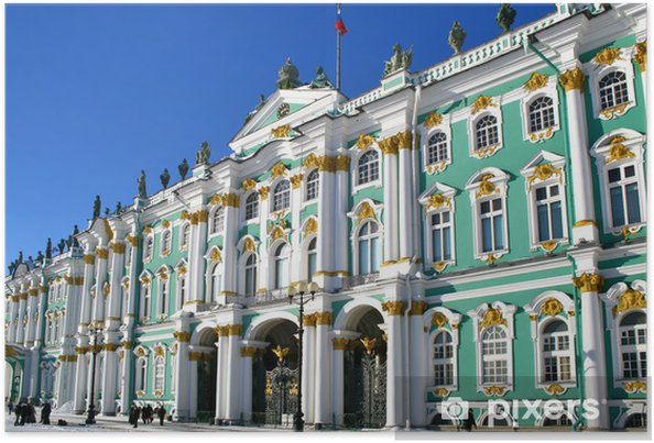 Vinterpaladset I Skt Petersborg Rusland Plakat Pixers Vi