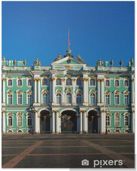 Vinterpaladset I Skt Petersborg Plakat Pixers Vi Lever For
