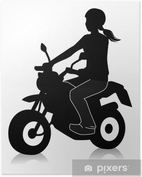Plakát ミ ニ バ イ ク に 乗 る 女性 - Extrémní sporty