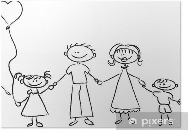 Plakát Счастливая семья, держась за руки - Rodinný život