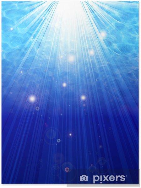Plakát 海 波紋 海底 背景 - Národní svátky
