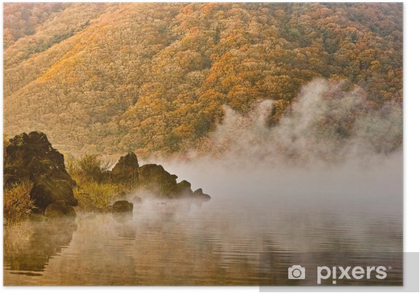 Plakát 湖 と 霧 - Voda