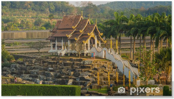 Plakát Французский сад в парке Нонг Нуч в Тайланде - Asie