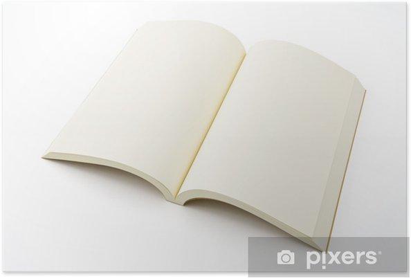 Plakát 開 い た 白紙 の 本 - Umění a tvorba
