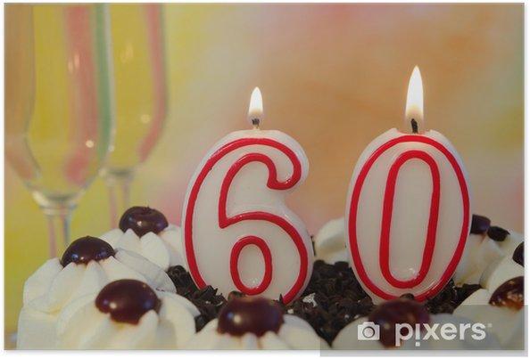 Plakat 60-ci Urodziny - Świętowanie