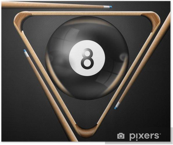 Plakat 8 bilard gier bilardowych - Rozrywka