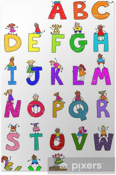 Plakát Abeceda Děti - Témata