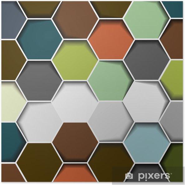 Plakat Abstract Background Hexagon - Abstrakcja
