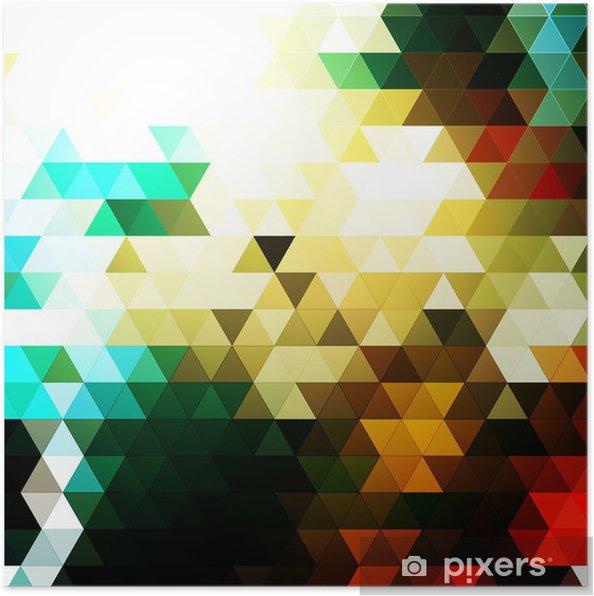 Plakat Abstract Background Vector Mosaic trójkątny - Tła