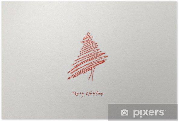 Plakat Abstract Christmas tree - Święta międzynarodowe