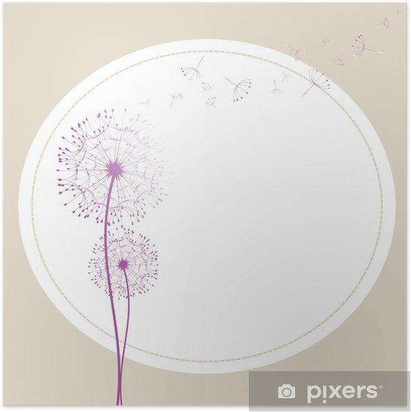 Plakat Abstract dandelion w tapetę wiatrowej - Tła