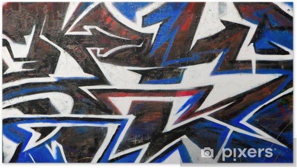 Plakat Abstract grafitti tle - Inne