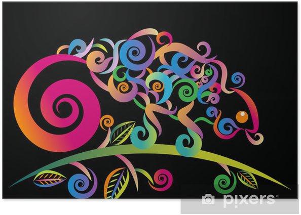 Plakat Abstract kameleon - Ameryka