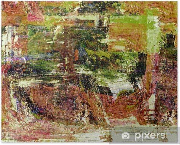 Plakát Abstract olej - Jiné pocity