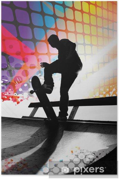 Plakat Abstract skater - Skateboarding