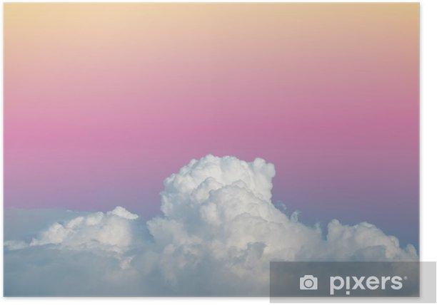 Plakat Abstract soft niebo chmury z gradientu kolorów pastelowych rocznika tło dla wykorzystania w tle - Zasoby graficzne