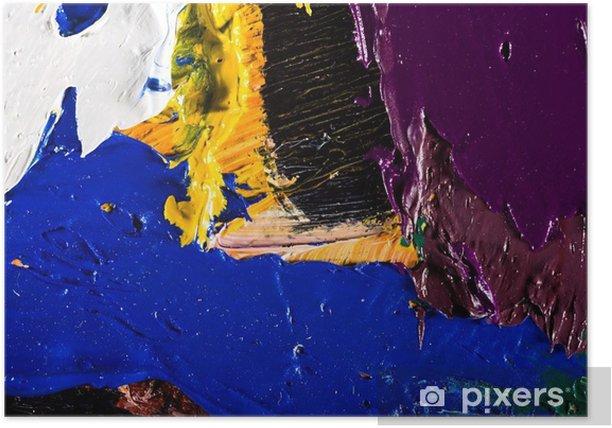 Plakat Abstrakcyjna grafika malarstwo - Hobby i rozrywka