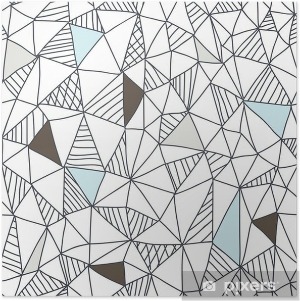 Plakat Abstrakcyjna powtarzalny doodle wzór - Biznes