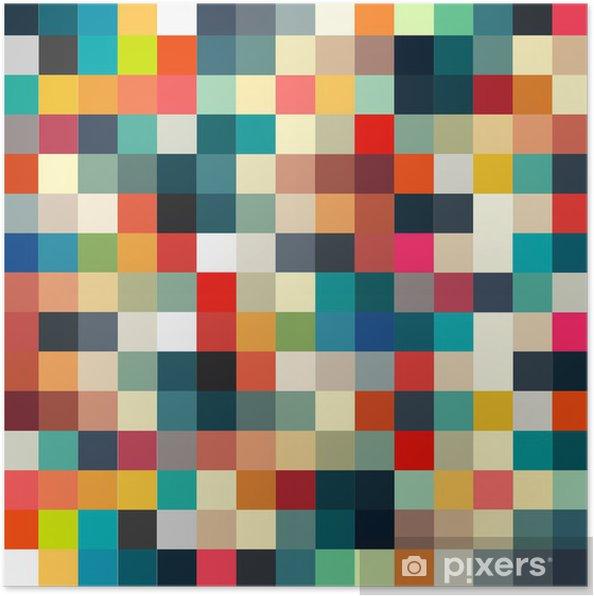 Plakat Abstrakcyjne geometryczne retro wzór dla projektu - Style
