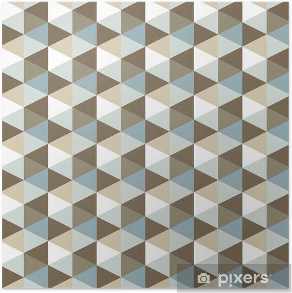 Plakat Abstrakcyjne geometryczne tło wzór - Tematy