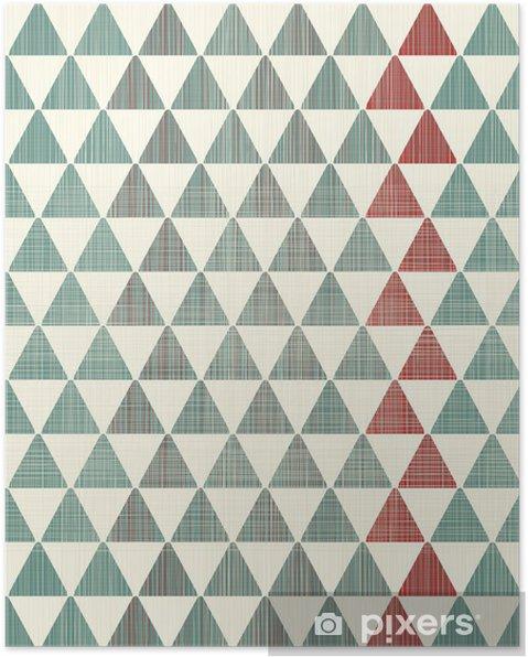 Plakat Abstrakcyjne tekstury trójkąty powtarzalne wzór - Style