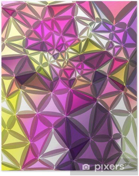 Plakat Abstrakcyjne tło geometryczne - Tematy