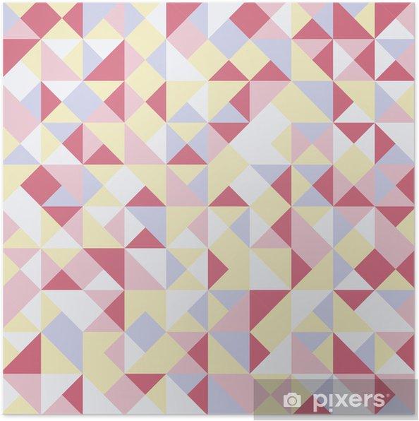 Plakat Abstrakcyjne tło trójkąty - Znaki i symbole