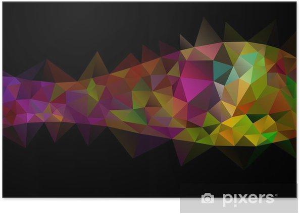 Plakat Abstrakcyjne tło - Abstrakcja