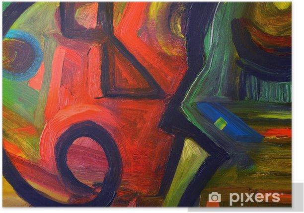 Plakat Abstrakcyjny obraz olejny - Sztuka i twórczość