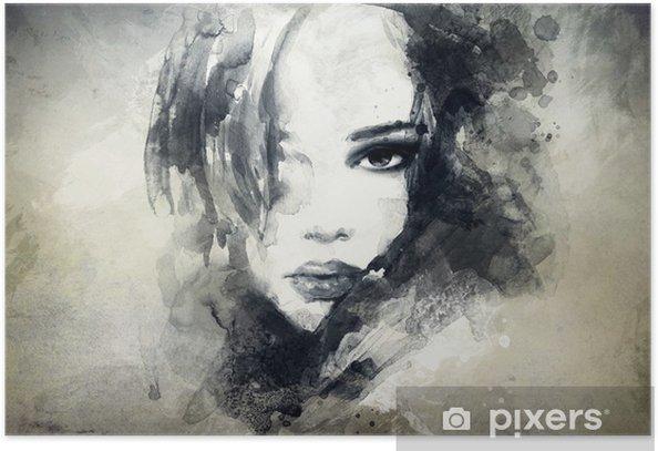 Plakat Abstrakcyjny portret kobiety -