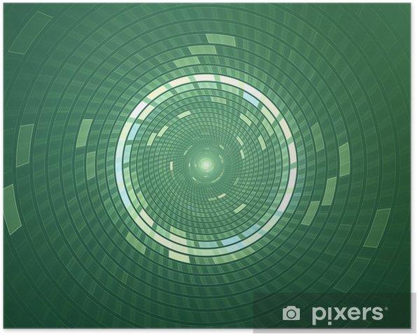 Plakát Abstrakt kruhové sci-fi futuristický pozadí - Abstraktní