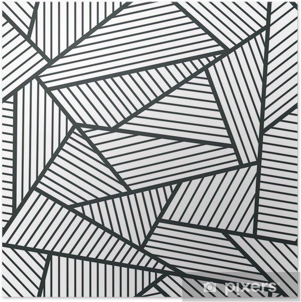 Plakát Abstraktní černé a bílé bezešvé vzor. - Styly