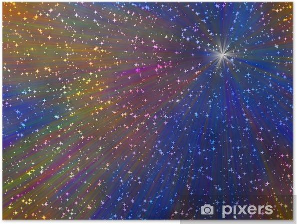 Plakát Abstraktní hvězdném pozadí - Mezinárodní svátky
