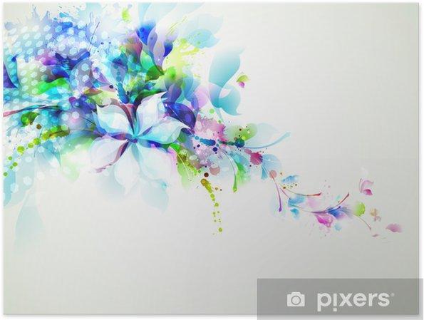 Plakát Abstraktní kompozice s květinami zadávací - Jiné pocity