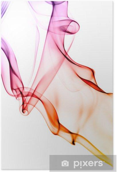 Plakát Abstraktní kouře pozadí textury plamen - Prvky podnikání