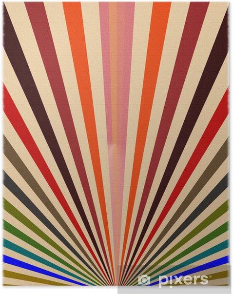 Plakát Abstraktní pozadí staré barvy vlajky - Slavnosti