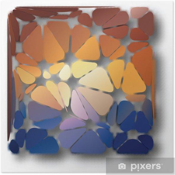 Plakát Abstraktní pozadí trojúhelníky - Pozadí