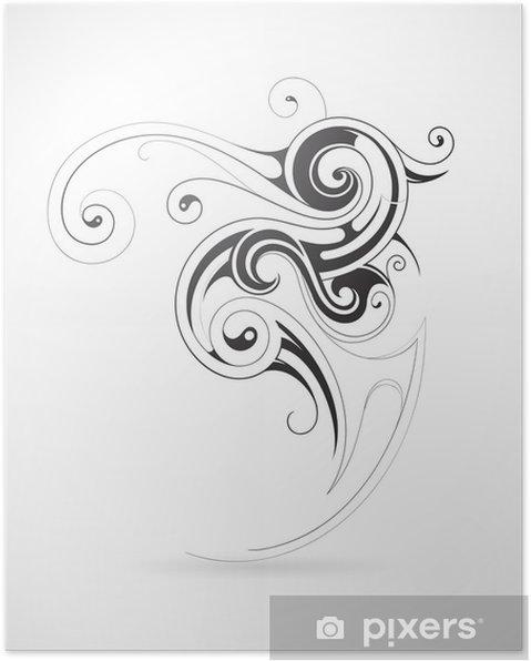 Plakát Abstraktní tvar - Abstraktní