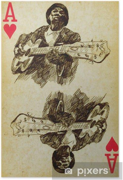 Plakát Ace of blues: blues muž s kytarou - Hudba