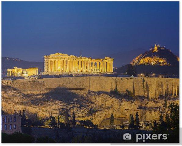 Plakát Acropolis v noci, Atény - Témata