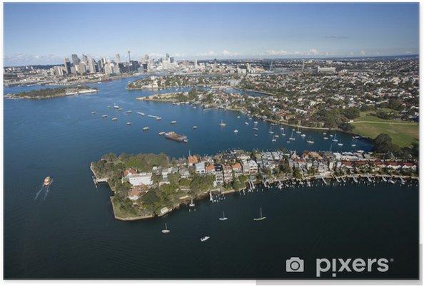 Plakat Aerial ślimaków Bay, Australia. - Oceania