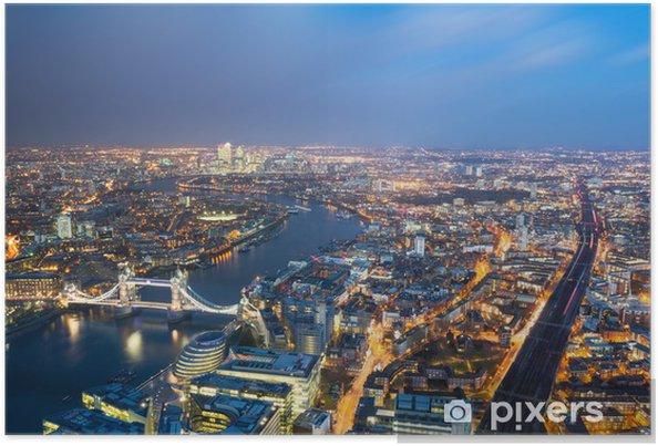 Plakat Aerial view of London - Miasta europejskie