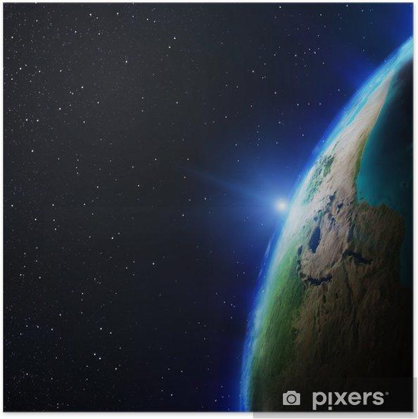 Plakat Afryka - Przestrzeń kosmiczna