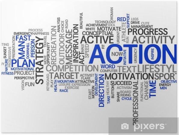 Plakat Akcja | Streszczenie Tapety - Znaki i symbole