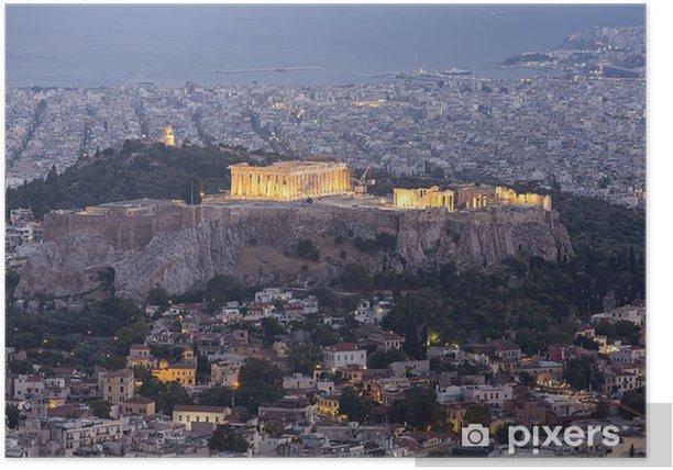 Plakat Akropol i Partenon, Ateny, Grecja - Tematy