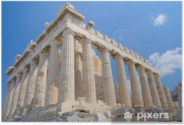 Plakát Akropole v Aténách - Evropská města