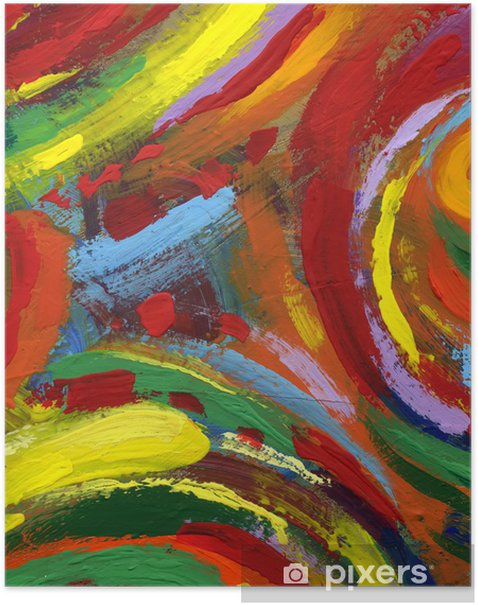 Plakat Akryl malarstwo abstrakcyjne tekstury tła - Tła