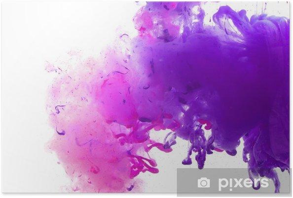 Plakat Akrylowe Kolory I Atrament W Wodzie
